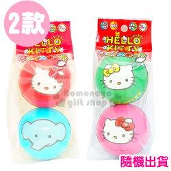 〔小禮堂〕Hello Kitty 皮球玩具《2款.隨機出貨.綠粉/紅藍.大臉》適合3歲以上孩童