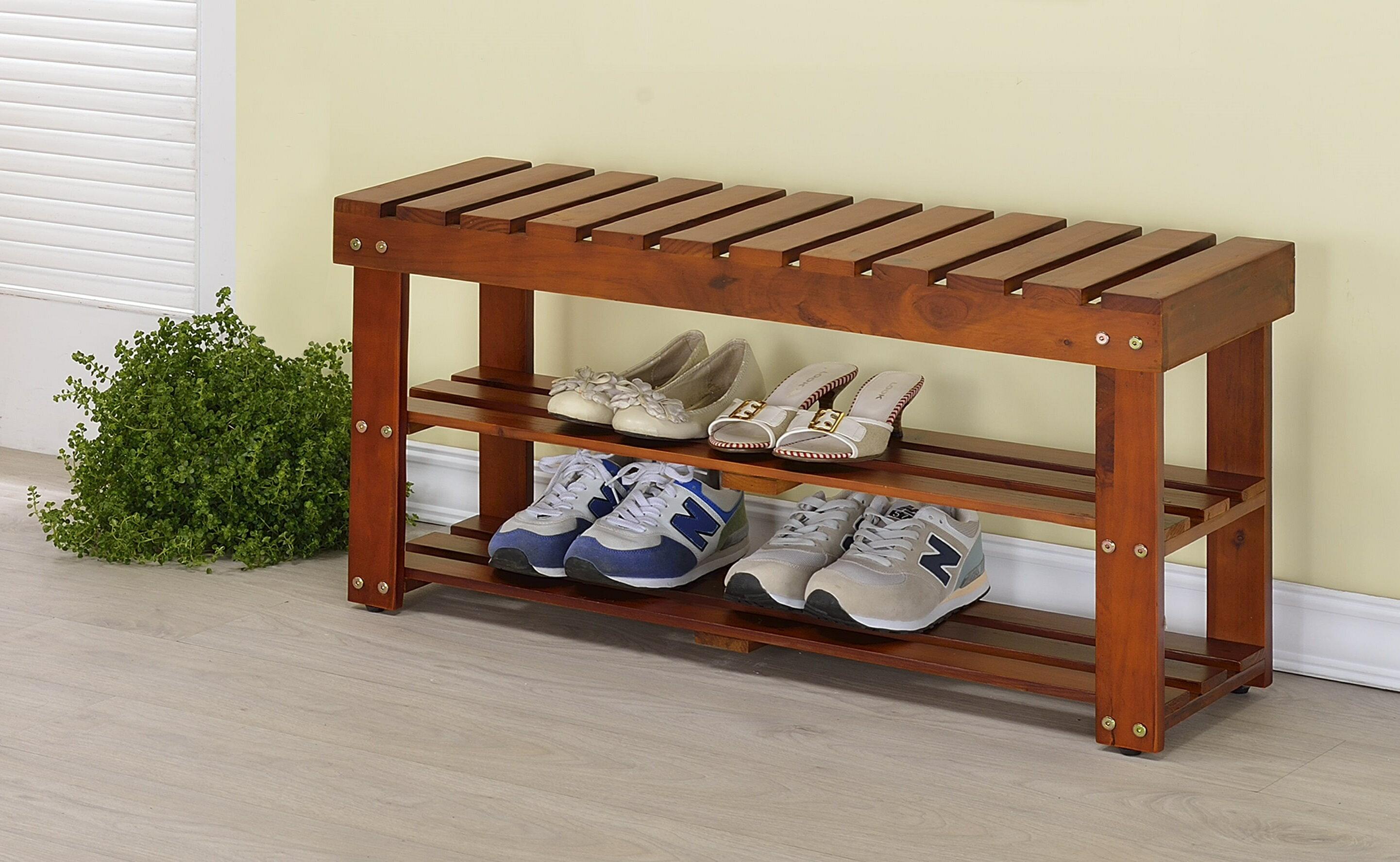 生活大發現-DIY家具-實木穿鞋椅/鞋櫃/ 鞋架 雙色可選/免運專區