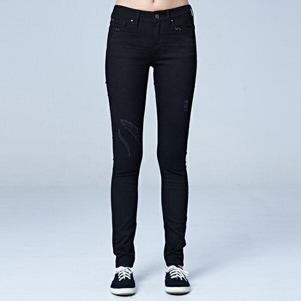 Lee400中腰貼身窄管牛仔褲BO-深藍色