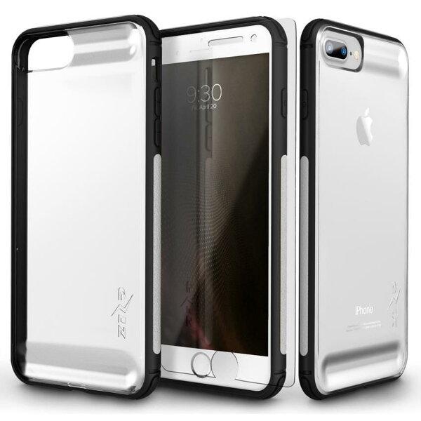 貝殼嚴選:【貝殼】ZizoBoltFLUX系列iPhone8PlusiPhone7Plus手機殼防摔殼(贈非滿版玻璃貼)-黑色