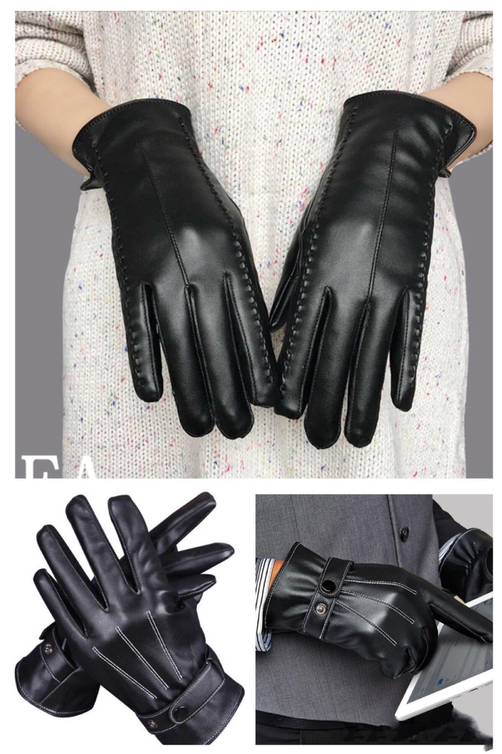 【MG】手套 買一送一 觸控加絨保暖皮手套~ 防風手套 防水手套 防寒手套 騎士手套
