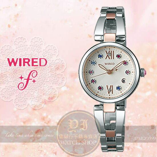 WIRED f日本原創璀璨甜心晶鑽聖誕節限量腕錶VJ22-KZ50KS/AY8015X1公司貨