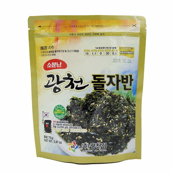 韓國KC韓式海苔酥70g炒海苔海苔鬆拌飯海苔海苔酥【庫奇小舖】