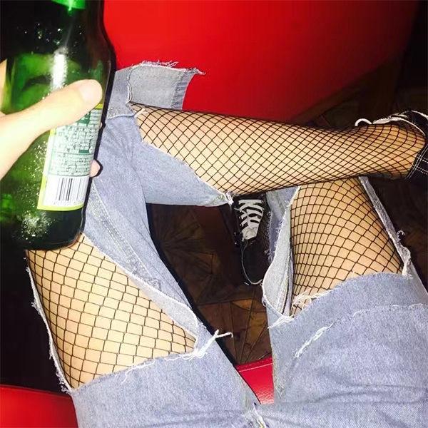 PS Mall 破洞牛仔褲必備性感網格襪 漁網襪 百搭內搭襪【HS7】
