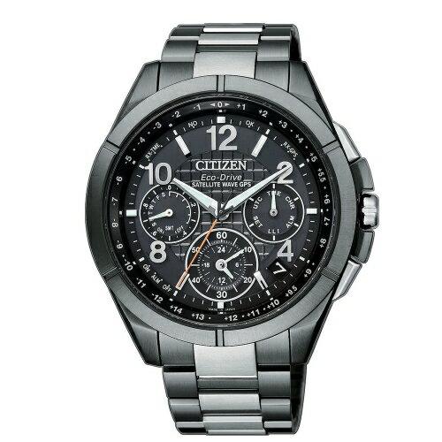 方采鐘錶:CITIZENGPS極限衛星F900光動能鈦腕錶CC9075-52E