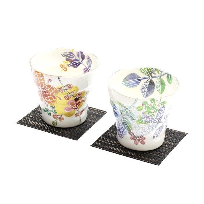 【日本和藍】シノワ茶杯組 (美濃燒) / 日式 無毒 瓷器 生日 結婚 送禮 工藝 收藏品 24期免運費