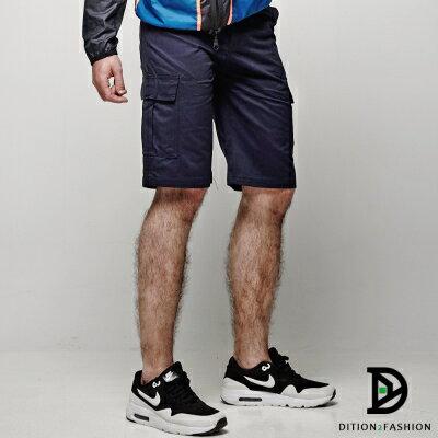 DITION 美式機能口袋outdoor工作短褲 素色 硬挺滑板褲 1