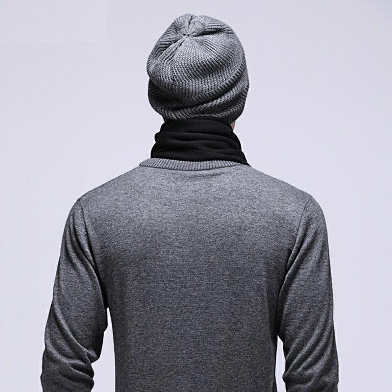 毛帽羊毛針織帽-護耳包頭圓頂純色男帽子2色73wj50【獨家進口】【米蘭精品】 2