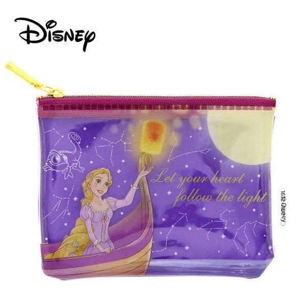 【日本正版】長髮公主 樂佩 防潑水 小型 收納袋 零錢包 卡片包 魔髮奇緣 Rapunzel 迪士尼 - 542782