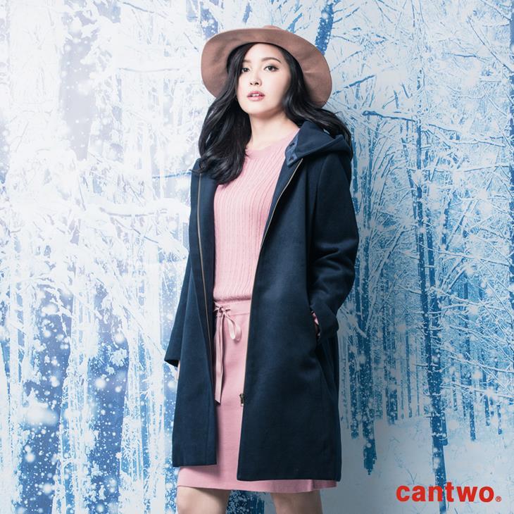 cantwo俐落H線條連帽大衣(共二色) 1