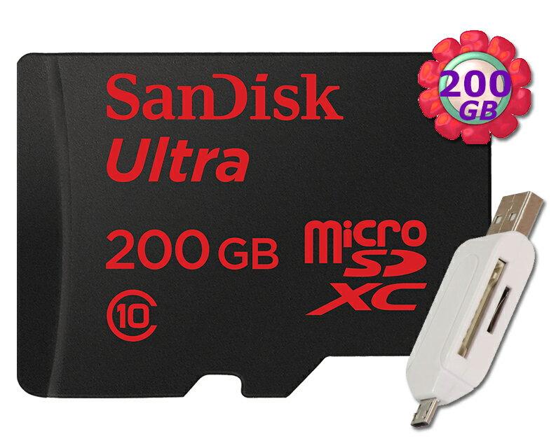 附T05 OTG SanDisk 200GB 200G microSDXC【90MB/s】Ultra 600X microSD micro SD SDXC UHS UHS-I Class 10 C10..