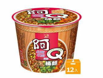阿Q桶麵紅椒牛肉風味(12碗/箱)【合迷雅好物商城】