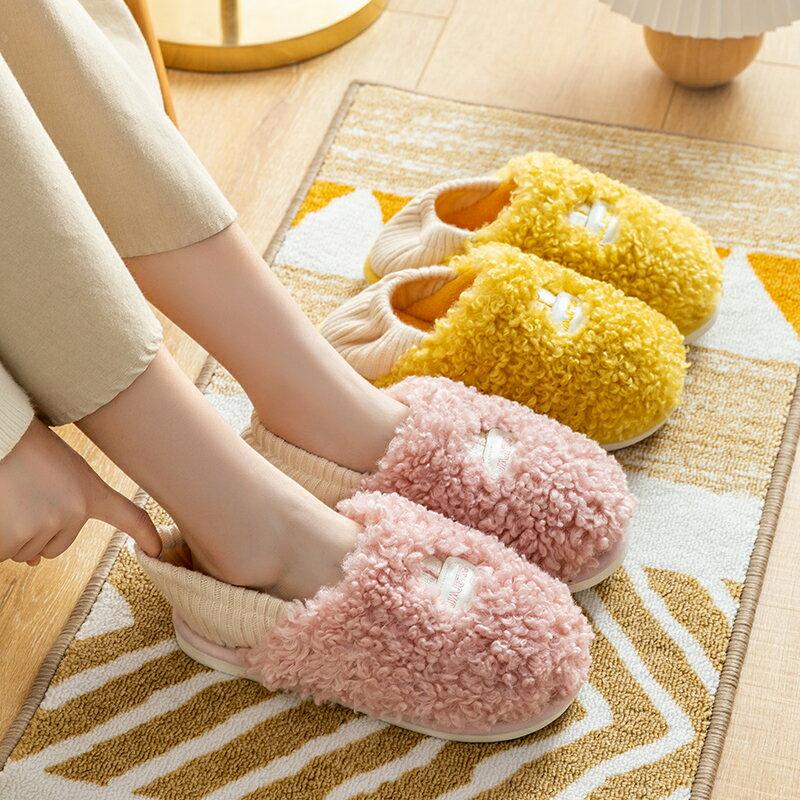 鞋秋冬產后冬季棉拖鞋家居毛拖鞋女可愛冬天居家棉鞋