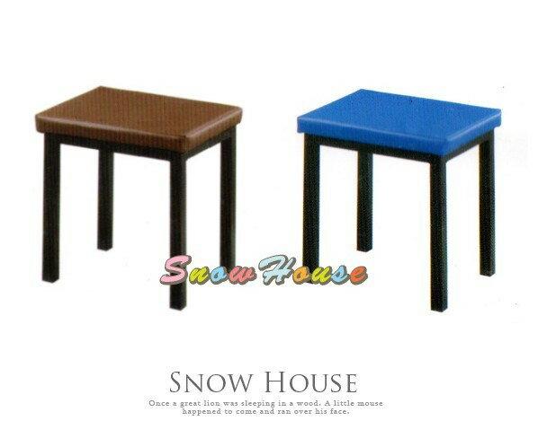 ╭~雪之屋居家 館~╯AA886~11 15 19 烤黑腳單人鐵管凳 餐椅 課桌椅 三色