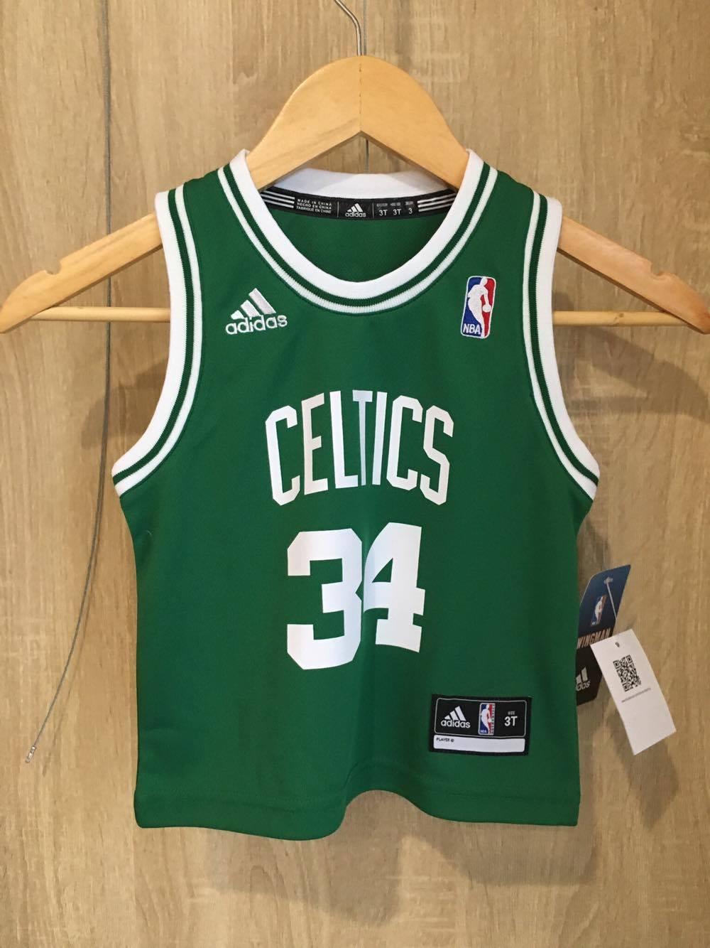 【蟹老闆】Adidas 孩童BABY 球衣 波士頓賽爾提克 34 PAUL PIERCE 2T~4T