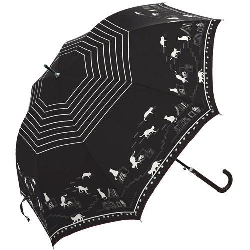 日本代購預購喵星人萌貓小貓咪下雨天雨傘直立傘長傘單人傘用傘紙箱運送555-30615