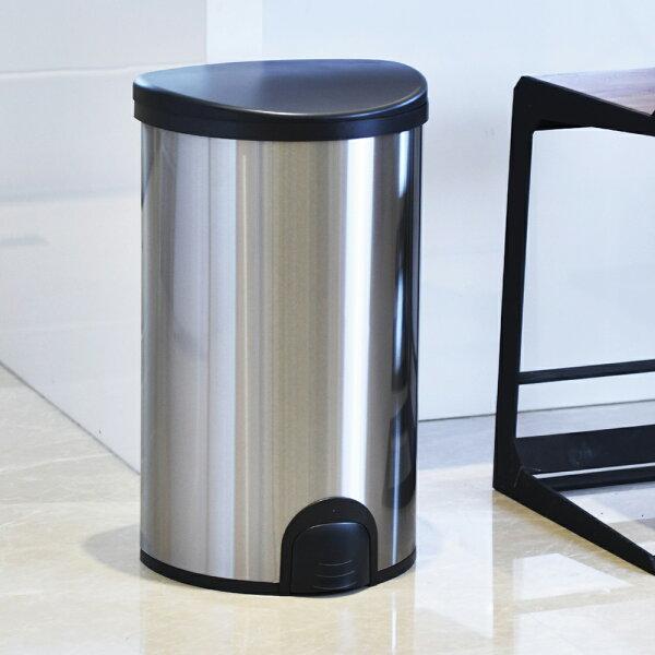 【+O家窩】諾曼腳觸感應不鏽鋼垃圾桶50L(清潔回收分類智慧自動掀蓋)