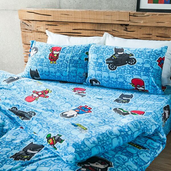 床包兩用毯組雙人-暖呼呼搖粒絨【正義曙光】含兩件枕套,發熱保暖,戀家小舖,台灣製