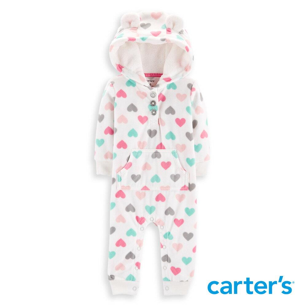 Carter's 繽紛愛心耳朵造型連身裝 - 限時優惠好康折扣