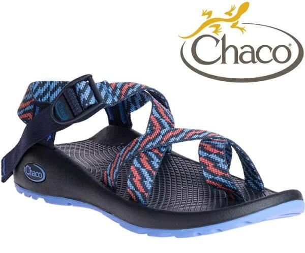 Chaco涼鞋越野運動涼鞋水陸鞋綁帶涼鞋-夾腳款女美國佳扣CH-ZCW02HE40凝結日蝕