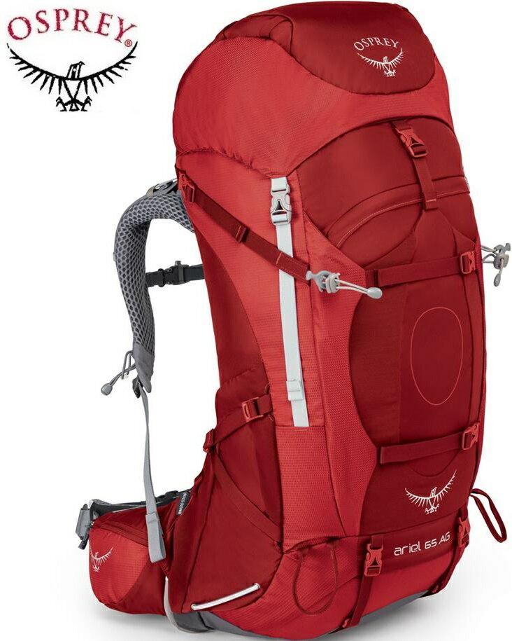 Osprey 後背包/登山背包/背包客/背包/健行 Ariel AG 65 精靈65升登山背包 女款 熱情紅
