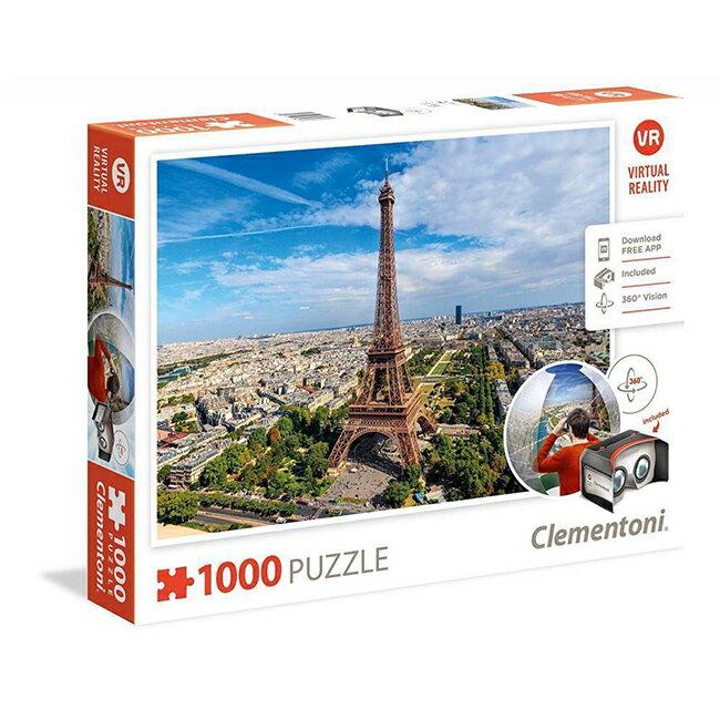 【義大利 Clementoni】VR拼圖-巴黎 Paris(1000pcs) CL39402I (69x50)
