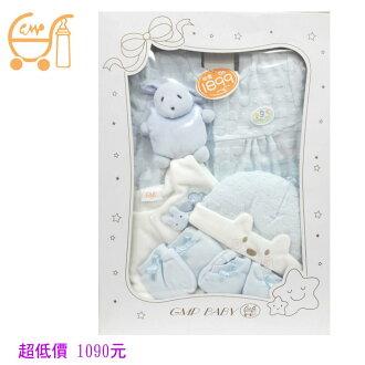*美馨兒* 東京西川 GMP BABY 毛巾熊頭禮盒+背心+帽+布偶 1090元