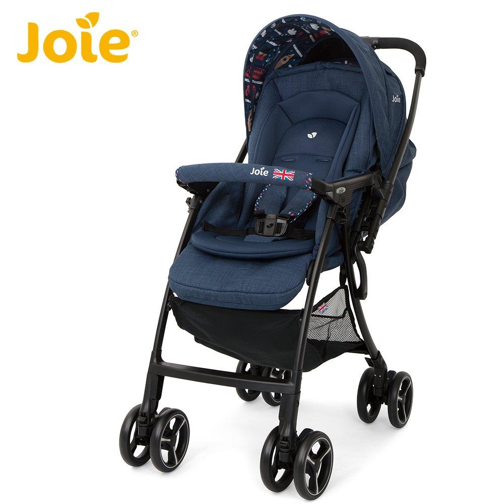 【領券滿額折150】Joie FLOAT 4WD 輕量雙向推車(JBB88600N英倫藍) (附雨罩)6953元+送Chicco 奶瓶消毒清潔液1000ml 618購物節