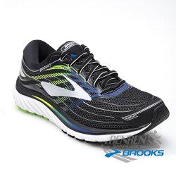 布魯克斯 Brooks 男跑鞋 (黑綠) GLYCERIN 15 避震緩衝款跑鞋 1102582E012【 胖媛的店 】