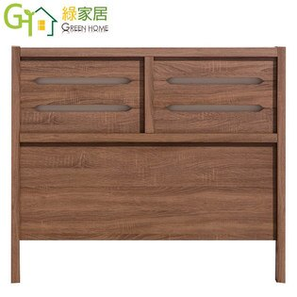 【綠家居】泰拉時尚3.5尺淺胡桃單人床頭片