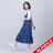 【maru.a】綁帶裝飾魚尾裙襬長洋裝(深藍) 2