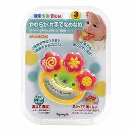 『121婦嬰用品』貝親 牙膠微笑搖鈴 0