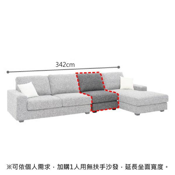 ◎布質左躺椅L型沙發 GRAND LGY NITORI宜得利家居 4