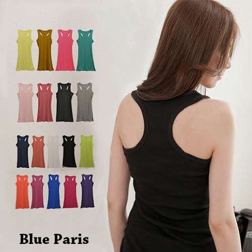 背心 - 羅紋棉長版挖背背心《18色》【11946】 藍色巴黎  ☛ 現貨商品 MIT 0