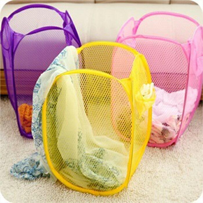 【酷創意】韓流新款  多色洗衣籃折疊藍髒衣籃 收納籃E10
