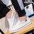 格子舖*【AA563】男款基本款簡約素面百搭休閒舒適 鬆緊方便穿拖 布面懶人鞋 情侶鞋 2色 1