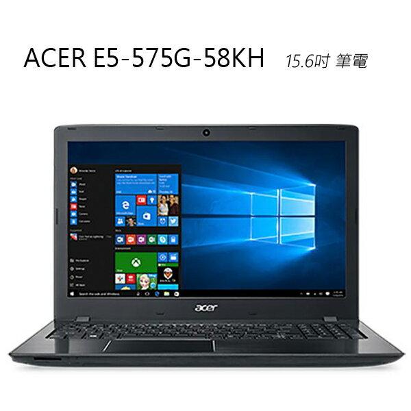 【送筆電包+滑鼠】曜石黑~ACER E5-575G-58KH (i5-6200U) 4G 1T+128GB 15.6吋筆電
