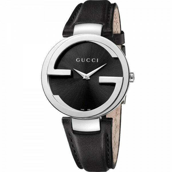 Gucci 古吉YA133301經典雙G時尚腕錶/黑面37mm