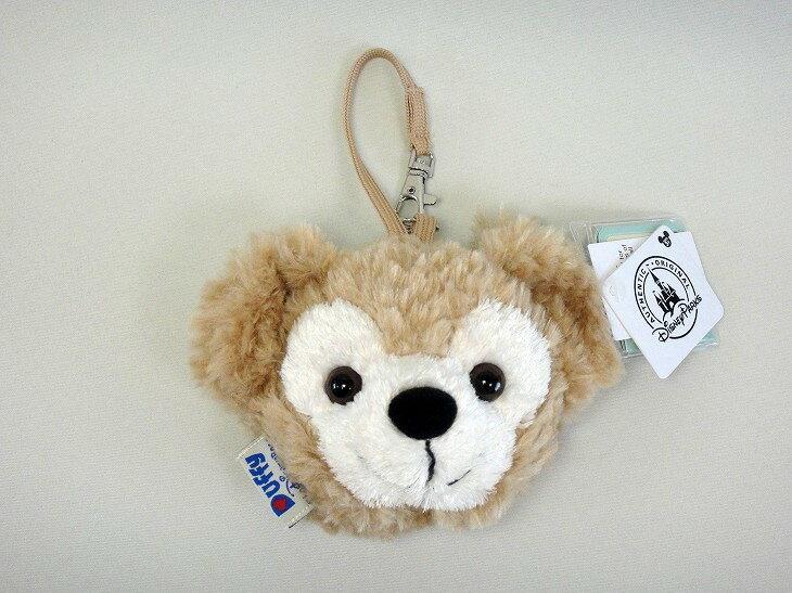 X射線【C150001】香港迪士尼代購-達菲Duffy 掛式零錢包,美妝小物包/圓形化妝包/兔子/面紙包/化妝包