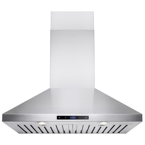 "AKDY 30"" Stainless Steel Wall Mount Range Hood Touch Screen Display Light Lamp Baffle Filter 1"