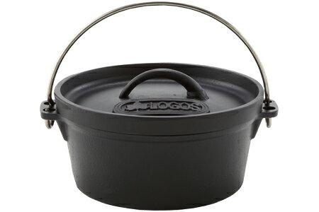 【露營趣】中和 日本 LOGOS SL豪快魔法調理荷蘭鍋8吋 鑄鐵鍋 可電磁爐加熱 LG81062228