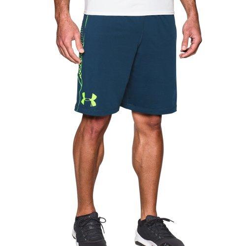 《UA出清6折》Shoestw【1277089-997】UNDERARMOURUA服飾短褲運動褲訓練褲10吋湖藍螢綠男生