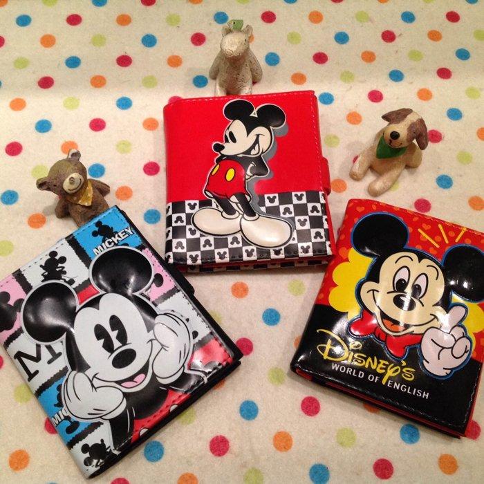 =優生活=日本迪士尼米奇米妮立體造型短夾 卡通米奇米妮皮夾造錢包 零錢包 證件包