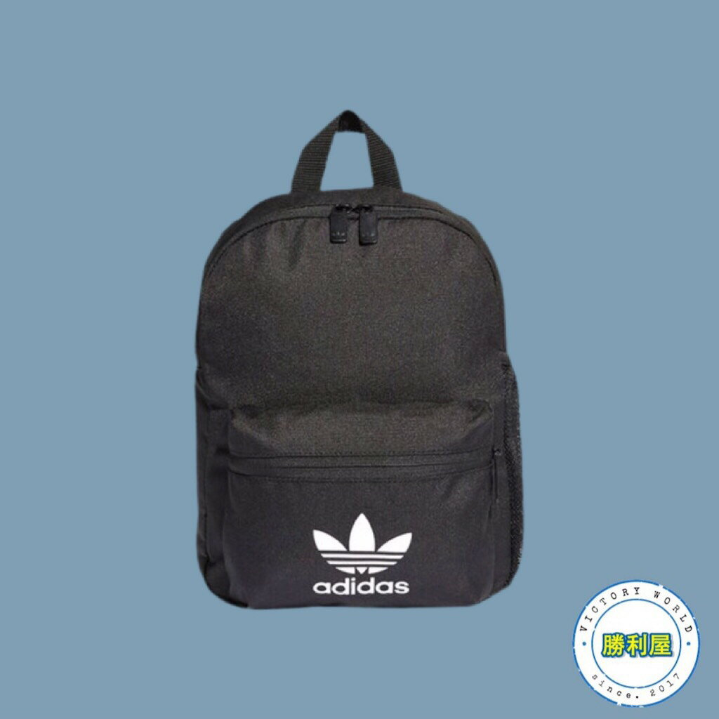 【ADIDAS】ADIDAS ORIGINALS INF BACKPACK 女款 小後背包 黑白 三葉草 ED5869【勝利屋】