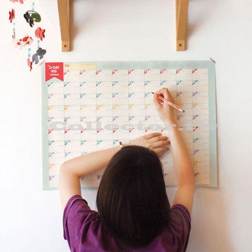 【L13080901】韓版奮鬥100天計劃表日曆計劃表 行事曆/倒數計時表