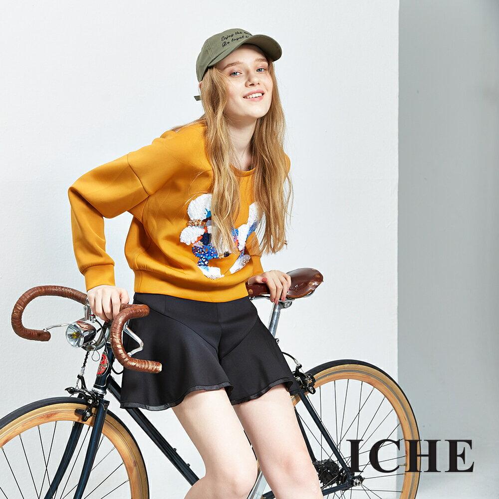 ICHE 衣哲 3D立體裝飾短版造型上衣