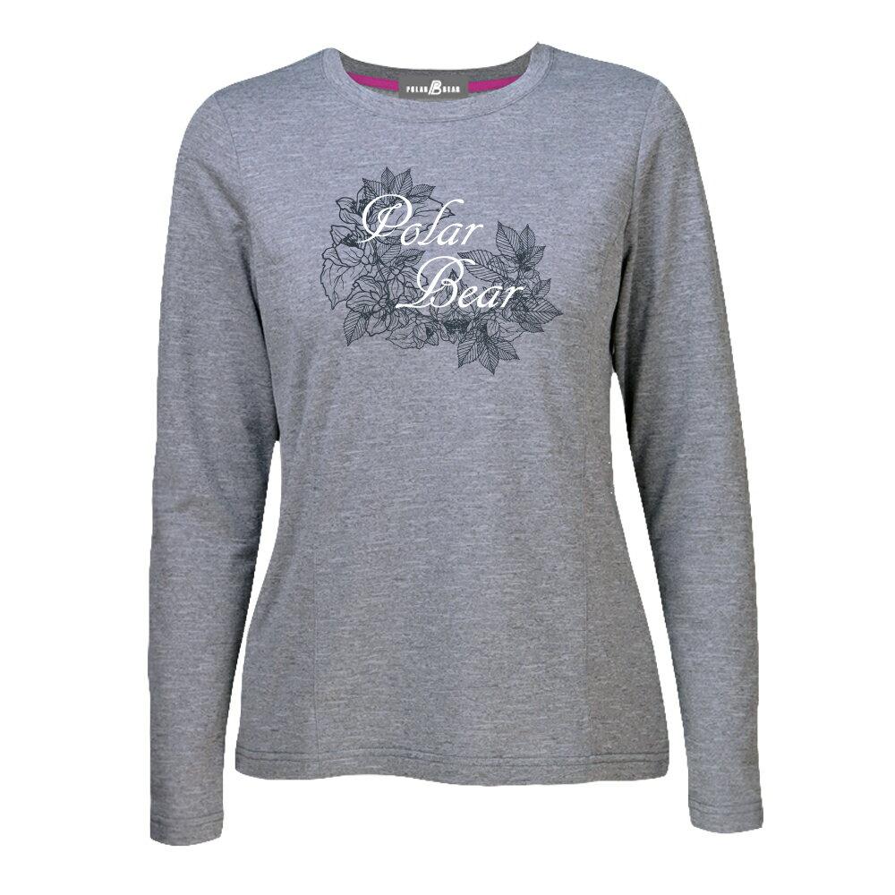 【POLAR BEAR】女蜂巢刷毛圓領長袖T恤-19T26 1