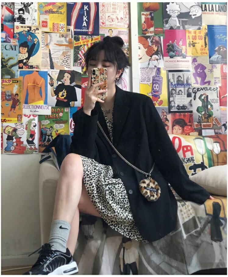 西裝外套女 高級感網紅黑色小西裝外套女士正韓英倫風2020新款春秋季西服上衣『CM40876』