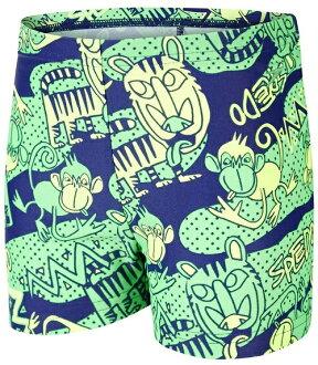 [陽光樂活]SPEEDO幼童男休閒四角泳褲 Jungle Roar Essential-SD805394A752 綠-藍(特價出清)