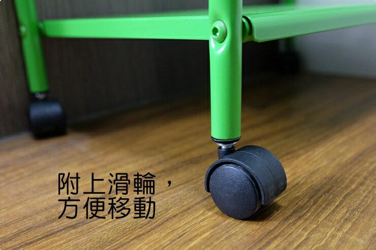 【凱樂絲】居家辦公兩用DIY 四層收納推車(粉綠款-寬16 cm) 角落空間利用, 附輪胎及把手, 容易移動 1